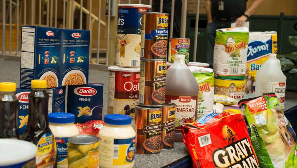 We're taking food bank donations!